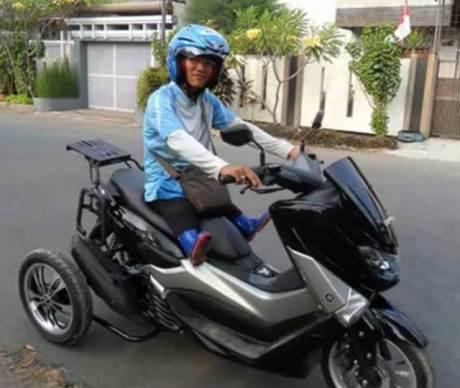 Modifikasi Yamaha NMAX 155 jadi Trike Pakai 3 roda pertamax7.com