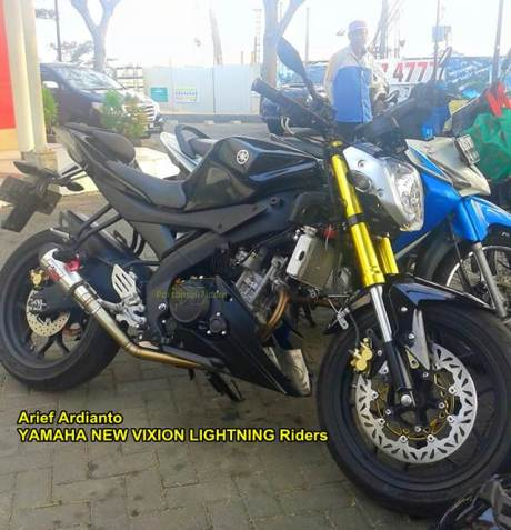 Modifikasi Yamaha R15 Jadi Naked Bike headlamp Byson kaki-kaki ala R25 Gambot