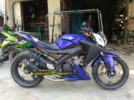 Modifikasi Yamaha R15 jadi telanjang Lampu Z250 replika bersayap New Honda Megapro 00 pertamax7.com