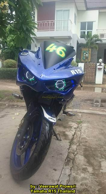 Modifikasi Yamaha R15 pakai topeng Layaknya Yamaha R25 01 pertamax7.com