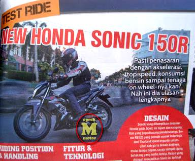 otomotif testride new honda sonic 150R pertamax7.com