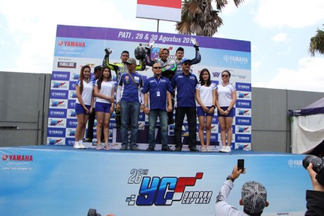 Podium yamaha cup race pati kelas YCR 1 pertamax7com