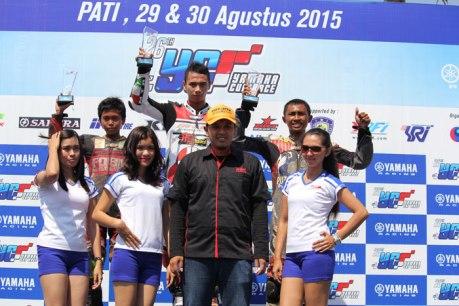 Podium yamaha cup race pati kelas YCR 5 pertamax7com