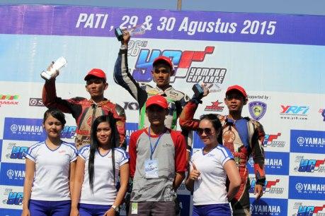 Podium yamaha cup race pati kelas YCR 8 pertamax7com