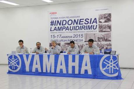 Press Conference Pesta Merdeka Yamaha #Indonesialampauidirimu