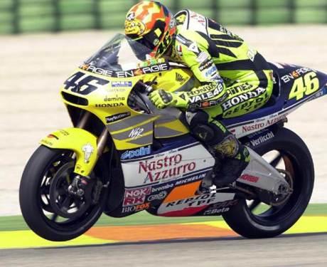 Rossi speed on honda NSR500