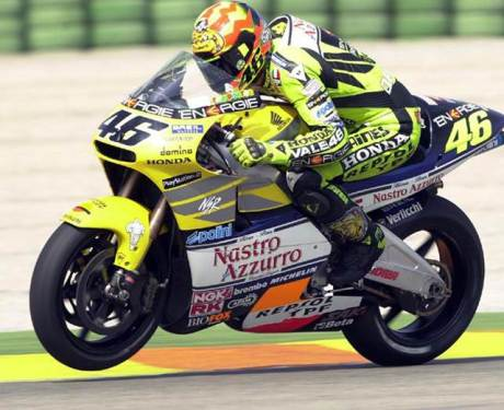 Rossi speed on honda NSR500