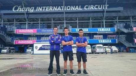 Tiga rider Yamaha Factory Racing Indonesia team di Buriram (Chang) International Circuit Thailand