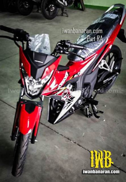 wujud honda sonic 150R merah lancip 2