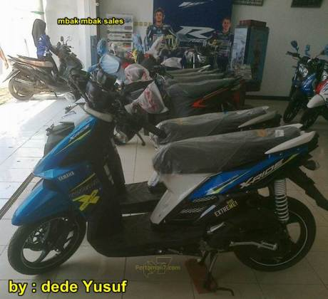 yamaha x-ride 2015 warna biru