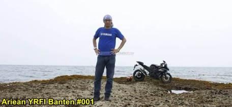 Aksi Yamaha R15 Libas Karang dan Air Laut Pantai Anyer, waspada karat 08 pertamax7.com