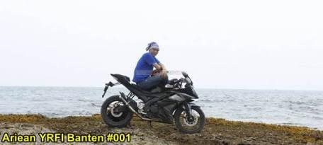 Aksi Yamaha R15 Libas Karang dan Air Laut Pantai Anyer, waspada karat 11 pertamax7.com