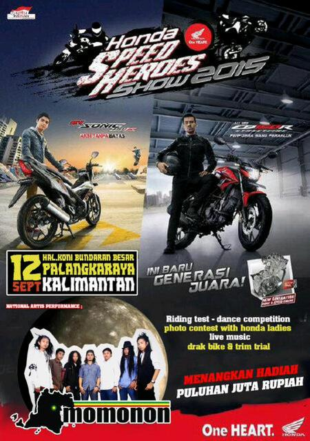 Ayo Nonton Grand Launching All New Honda CB150R dan New Sonic 150R  Palangkaraya pertamax7.com