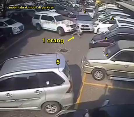 Beredar Video Mobil Mewah tabrak 1 orang dan 5 Mobil di Parkiran Pasar Puri Indah pertamax7.com