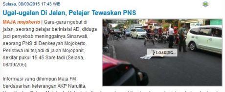 Bocah 16 tahun bawa Ninja 250 Oleng Tewaskan PNS di Mojokerto pertamax7.com