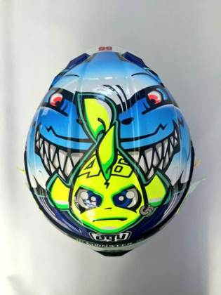 Detail Helm AGV Valentino Rossi Special Misano 2015, Hiu Garang siap menerkam 00 pertamax7.com