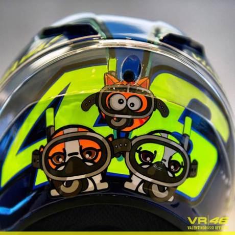 Detail Helm AGV Valentino Rossi Special Misano 2015, Hiu Garang siap menerkam 01 pertamax7.com