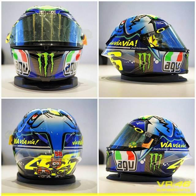 Detail Helm AGV Valentino Rossi Special Misano 2015, Hiu Garang siap menerkam 03 pertamax7.com