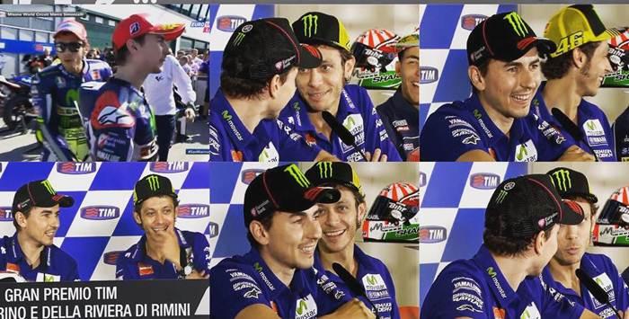 Dibalik Insiden Lorenzo VS Rossi di Kualifikasi motogp Misano 2015, sudah Clear tapi hangat