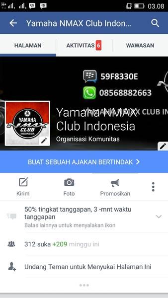 facebook Yamaha NMAX Club Indonesia Resmi Berdiri01 pertamax7.com