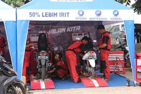 Free service motor all brand peserta Career Talk Show Yamaha & Universitas Indonesia (1)
