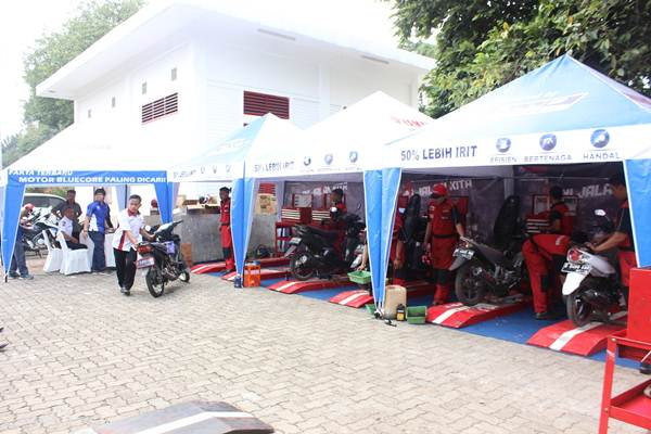 Free service motor all brand peserta Career Talk Show Yamaha & Universitas Indonesia (2)
