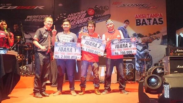 Gymkhana New Honda Sonic Medan diPadati 118 Starter hadiah mantabh 02 pertamax7.com