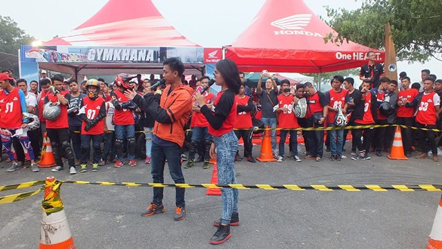 Gymkhana New Honda Sonic Medan diPadati 118 Starter hadiah mantabh 04 pertamax7.com