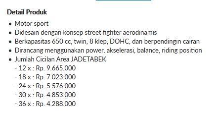 Harga Kawasaki ER-6N ini cuma Rp.47,5 juta pertamax7.com 3