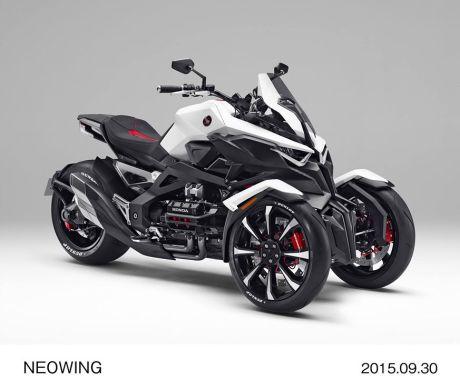 Honda NeoWing Konsep, Motor roda 3 bermesin Boxer 4 piston dan Hybrid ini Cadas ! pertamax7.com