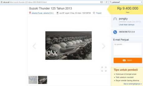 Info New Suzuki Thunder Baru KM 0 ini dijual Rp.9 jutaan saja pertamax7.com