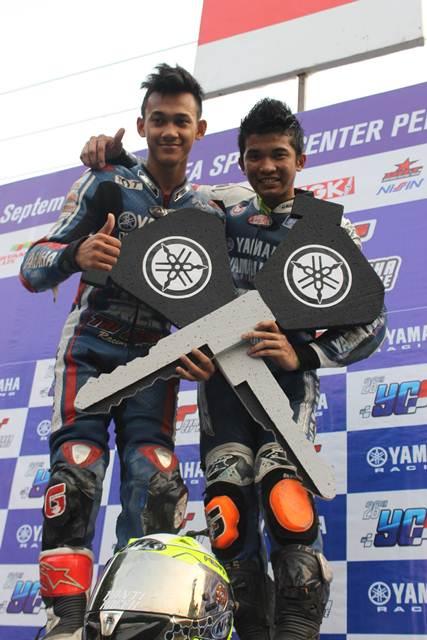 Juara umum kelas seeded dan pemula seri 6 YCR di Cirebon