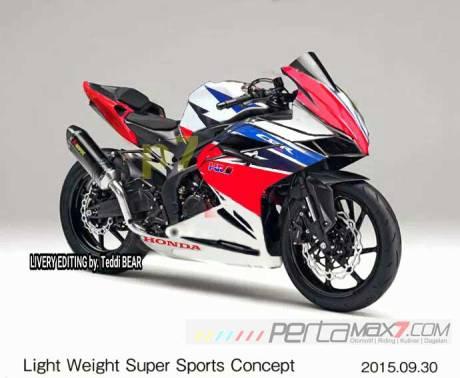 Kala-Honda-Light-Weight-Super-Sports-Concept-sinyalemen-CBR250RR-dikasih-Livery-RWB,-pertamax7.com-