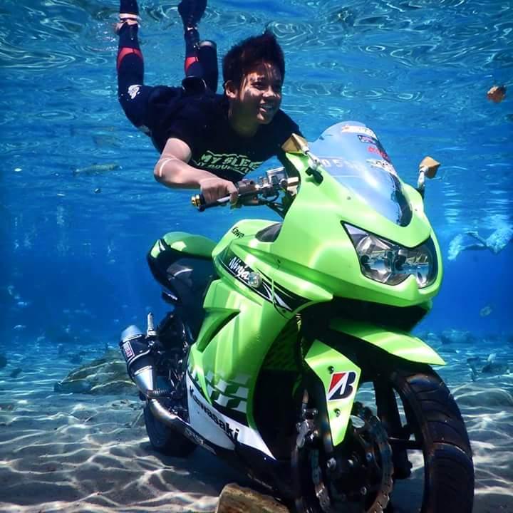 kawasaki ninja tenggelam di umbul ponggok klaten pertamax7.com