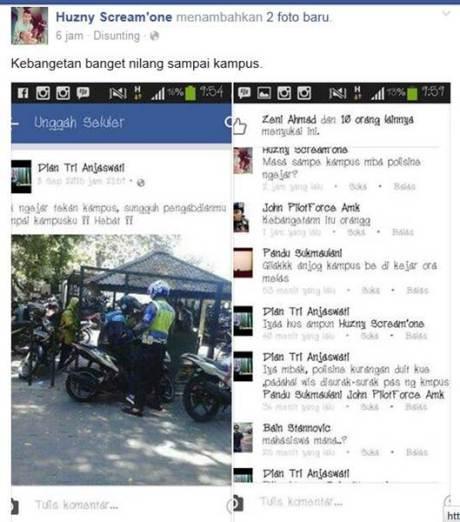 Keren... Pak Polisi ini Kejar Pelanggar dan Tilang di Kampus