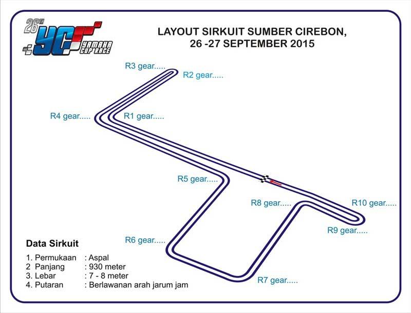 layout sirkuit Yamaha-Cup-Race-Seri-6-Cirebon,-banyak-acara-seru-dan-Gratis-pertamax7.com-2-