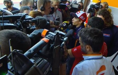 marquez crash explanation to media