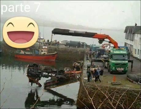 Mau Angkat Mobil Tercebur di Laut, sampai 3 Truck Crane turun tangan 04 Pertamax7.com
