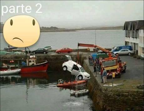 Mau Angkat Mobil Tercebur di Laut, sampai 3 Truck Crane turun tangan 06 Pertamax7.com