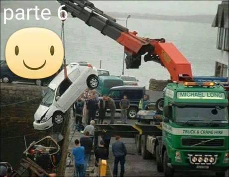 Mau Angkat Mobil Tercebur di Laut, sampai 3 Truck Crane turun tangan 08 Pertamax7.com