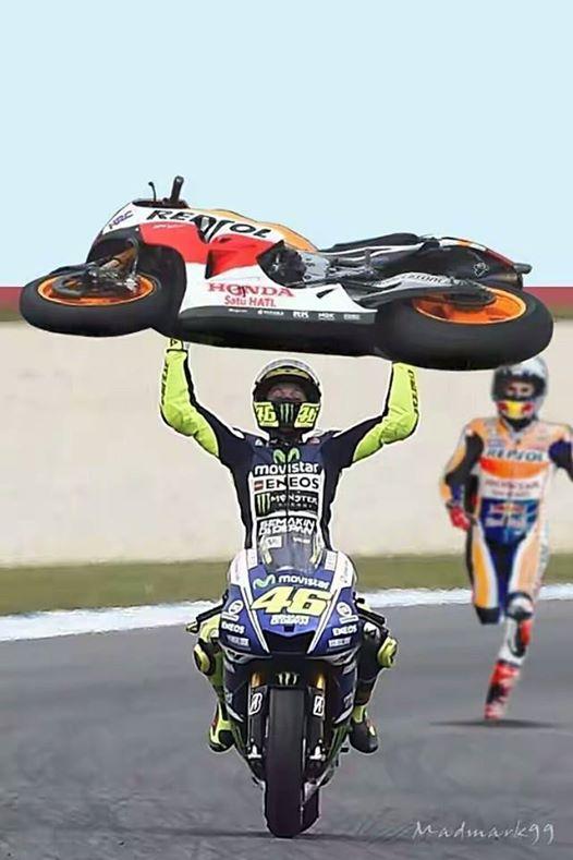 meme rossi gotong motor marquez pertamax7.com