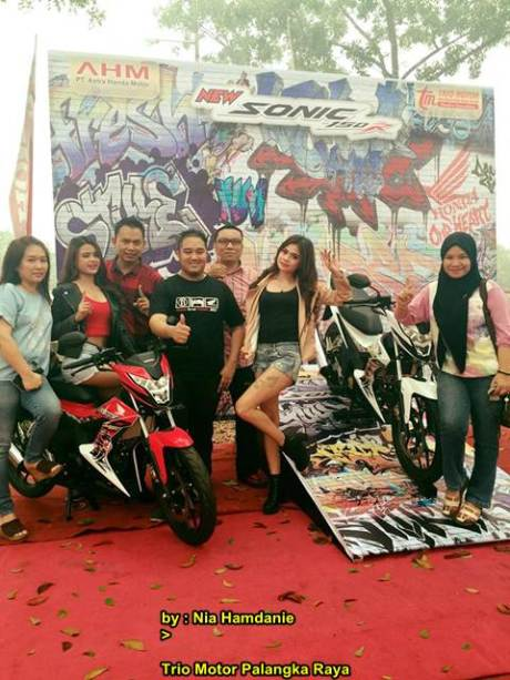 Meriahnya Grand Launching All New Honda CB150r dan New Sonic 150R di Palanka Raya 04 pertamax7.com