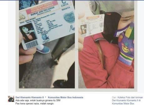 Modal SIM palsu Editan Plesetan, Bocah ini nangis Kala di tilang Polisi pertamax7.com