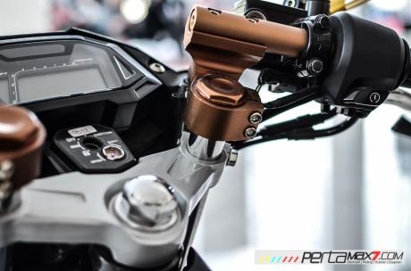 Modifikasi new Honda Sonic 150R velg Jari cakram Lebar pakai Tromol Supra X RDB_-12