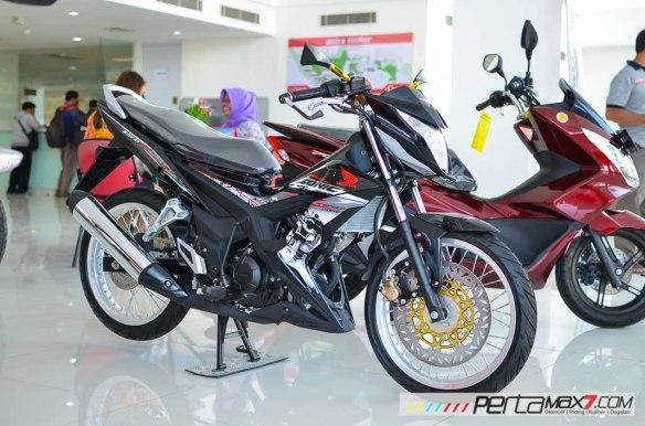 Modifikasi New Honda Sonic 150r Velg Jari Cakram Lebar Pakai Tromol Supra X 125 Rdb Pertamax7 Net
