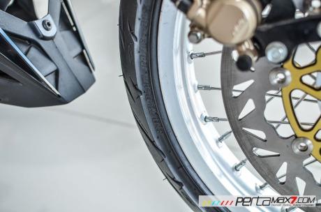 Modifikasi new Honda Sonic 150R velg Jari cakram Lebar pakai Tromol Supra X RDB_-4