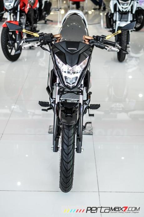 Modifikasi new Honda Sonic 150R velg Jari cakram Lebar pakai Tromol Supra X RDB_-6