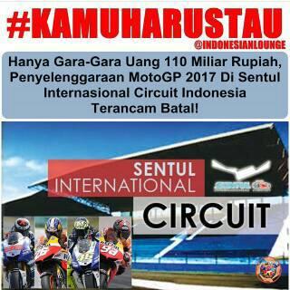 Motogp Indonesia 2017, Pemerintah nego soal dana Kontrak Rp.110 M