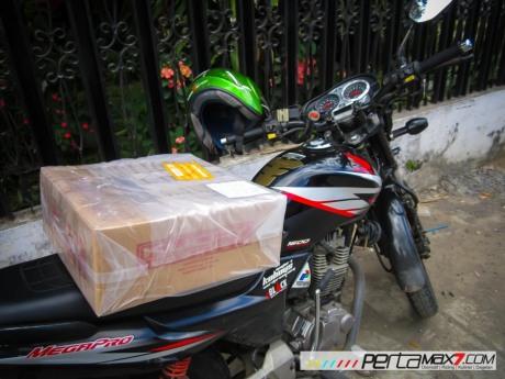 Mudahnya Pasang Braket geser Kucay di Honda Megapro plus Box Givi E20 Kuat mantabh 01 Pertamax7.com