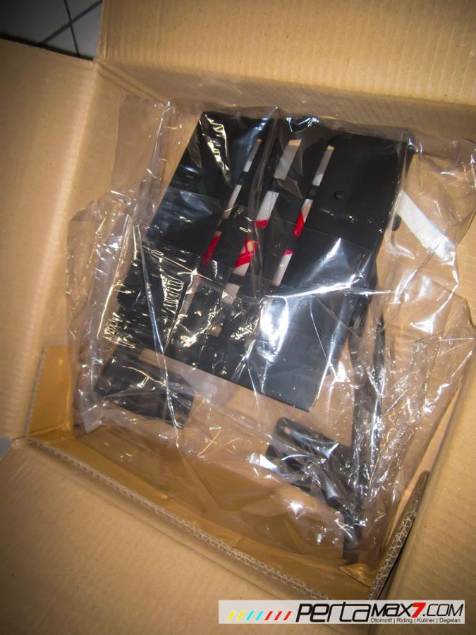 Mudahnya Pasang Braket geser Kucay di Honda Megapro plus Box Givi E20 Kuat mantabh 04 Pertamax7.com